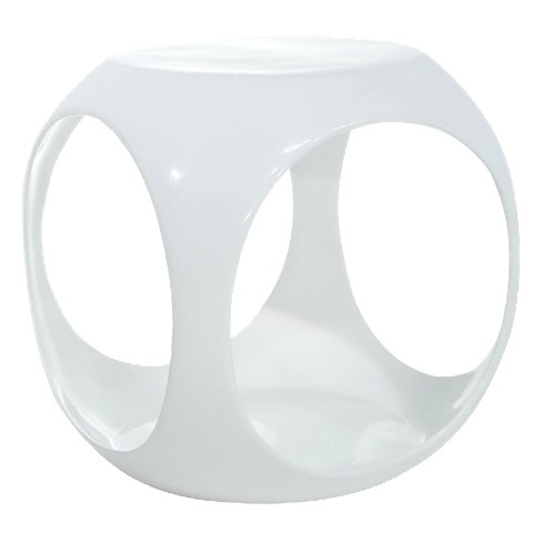 Slick Cube Occasional Table White - OSP Home Furnishings - image 1 of 3