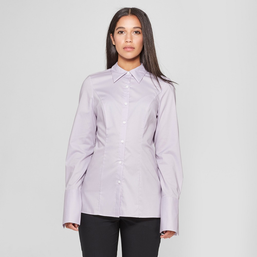 Women's Long Sleeve Fitted Button-Down Collared Shirt - Prologue Purple S was $24.98 now $11.24 (55.0% off)