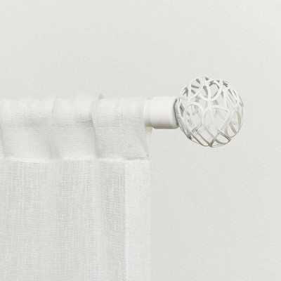 Adjustable Catherine Curtain Rod and Finial Set - Exclusive Home