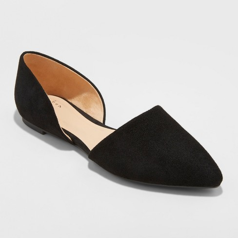 Women's Rebecca Pointed Two Piece Ballet Flats - A New Day™ - image 1 of 3