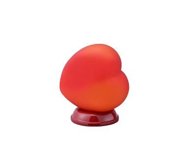 "8.4"" Novelty Heart Shaped Table/Desk Lamp Red - Ore International"