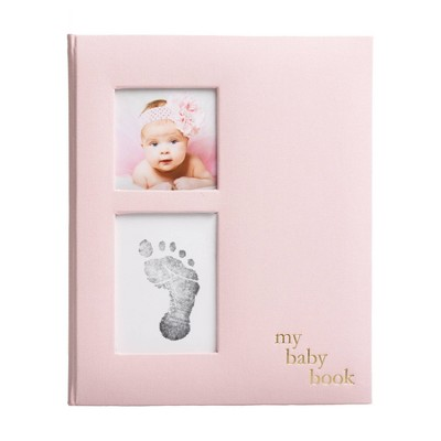 Pearhead Baby Memory Book - Pink Linen