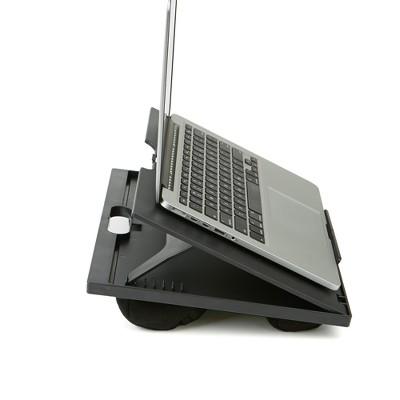 Adjustable Tilt Lap Desk with Cushion Black - Mind Reader