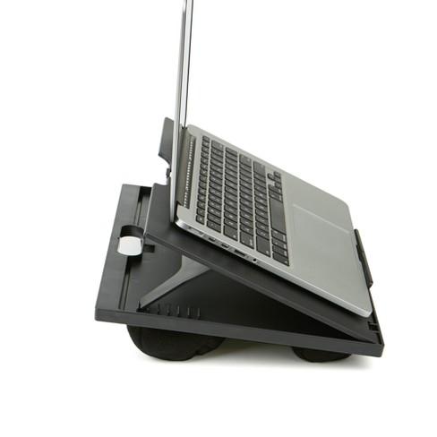 Adjustable Tilt Lap Desk With Cushion Black Mind Reader