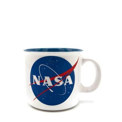 NASA 20oz Ceramic Camper Mug - Silver Buffalo