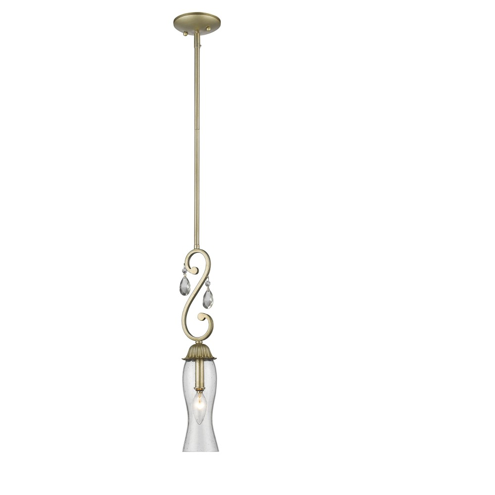 Mini Pendant with Clear Seedy Glass Ceiling Lights - Z-Lite