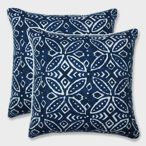 "16.5"" 2pk Merida Indigo Throw Pillows Blue - Pillow Perfect - image 1 of 1"
