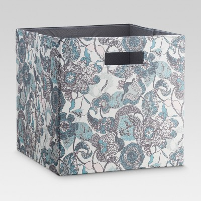 13  Fabric Cube Storage Bin Blue/Gray - Threshold™