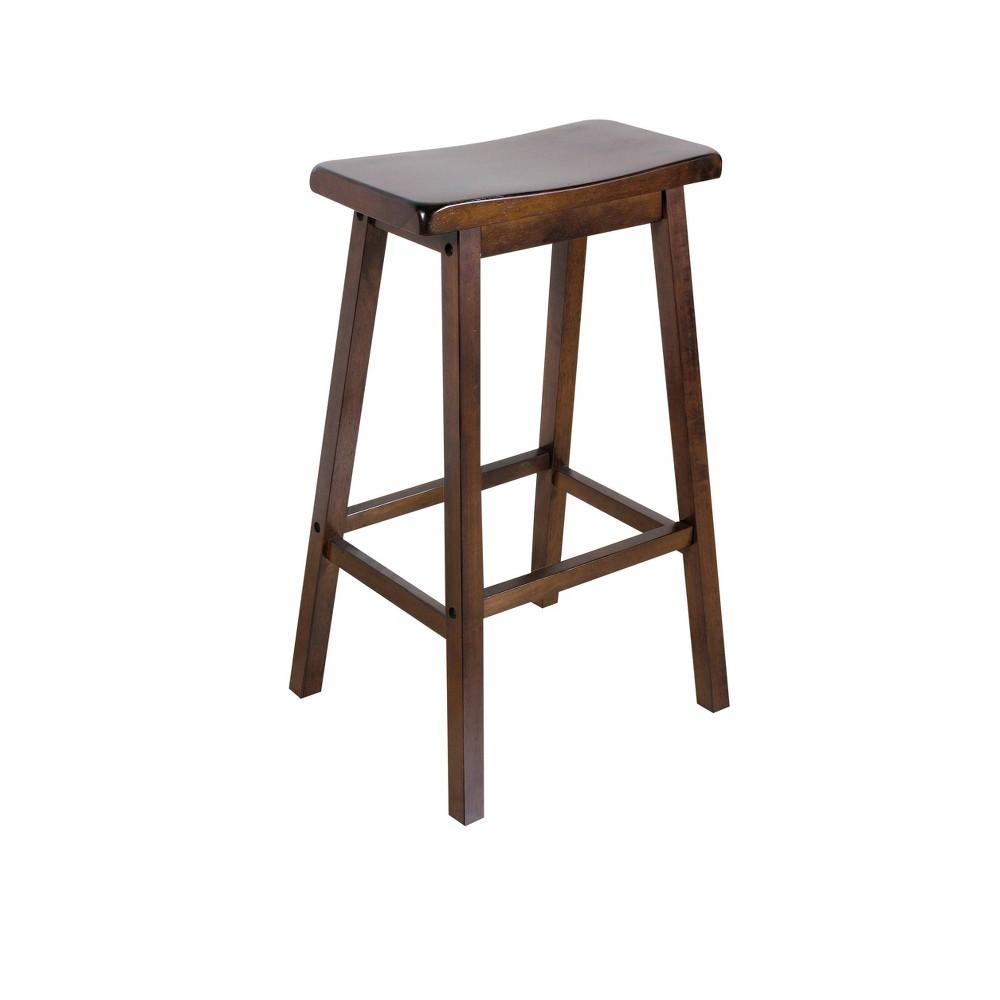 Image of 2pc Gaucho Bar Stool Walnut - Acme Furniture