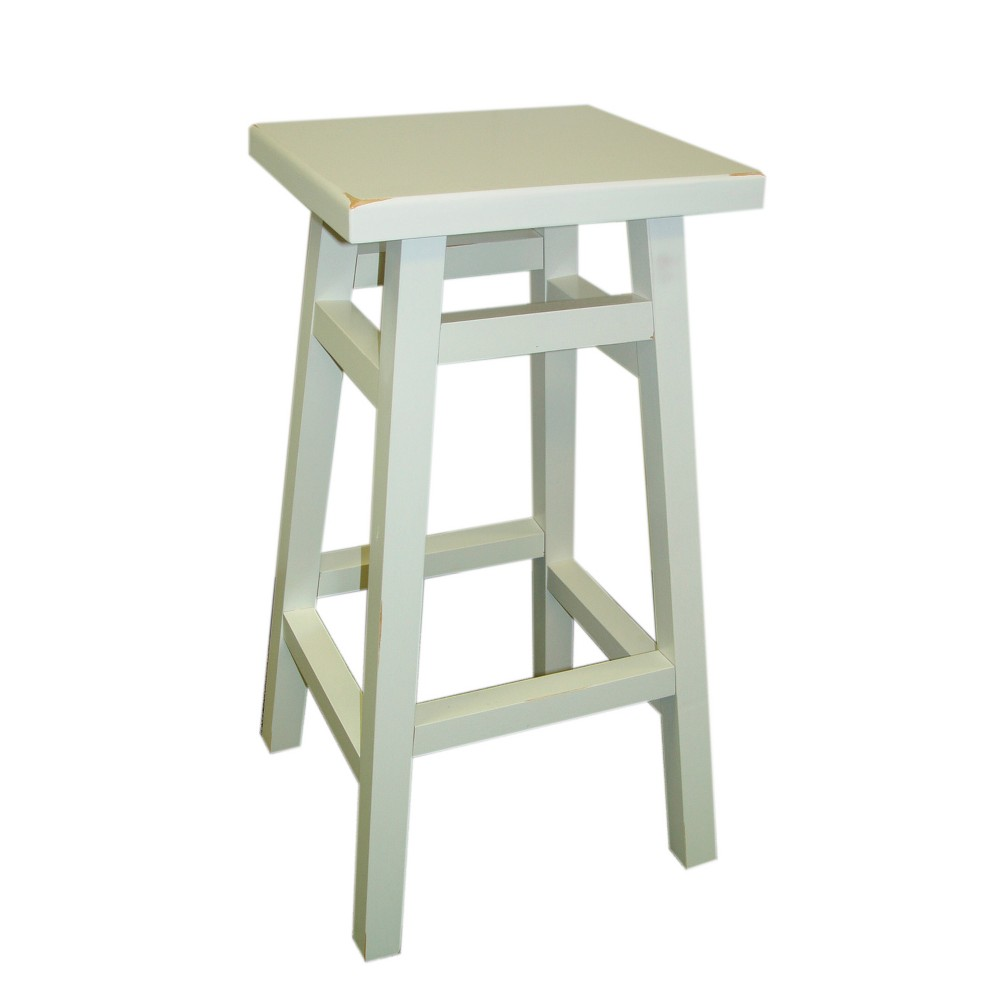 "Image of ""23.75"""" Porter Counter Stool Antique White - Carolina Chair & Table"""