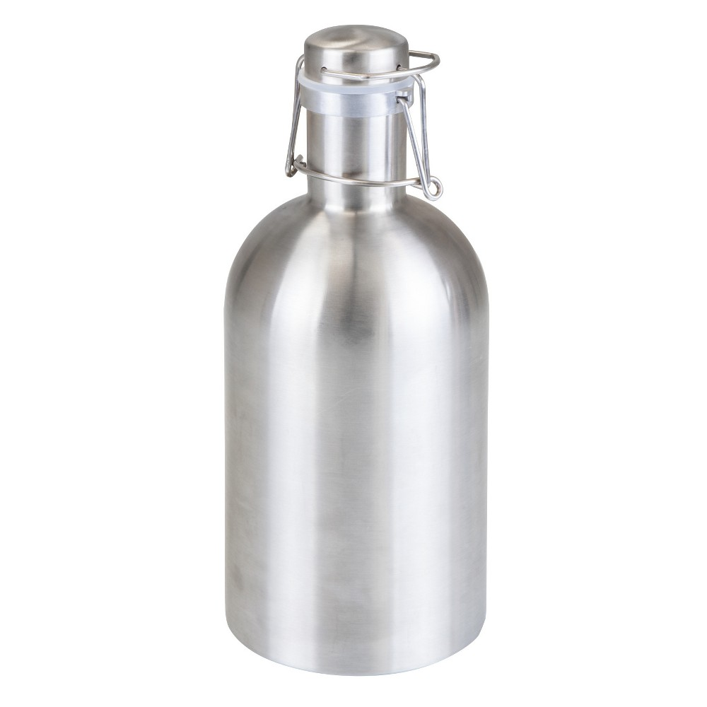 Image of Picnic Time Stainless Steel (Silver) Growler 64oz