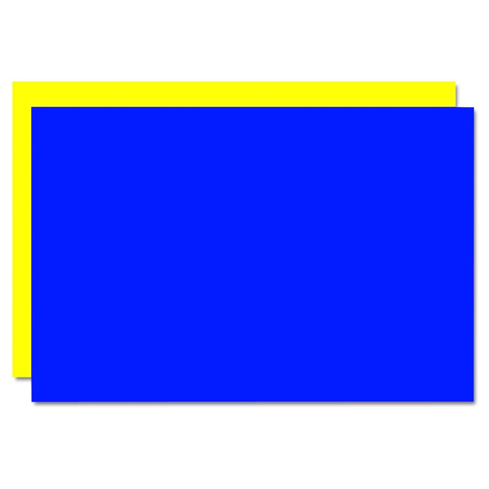Eco Brites Too Cool Foam Board, 20x30 - Blue/Yellow (5 Per Carton), Multi-Colored/Yellow/Blue