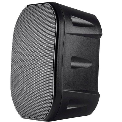 Monoprice 6.5-inch Weatherproof 2-Way Speakers with Wall Mount Bracket (Pair Black) - image 1 of 4