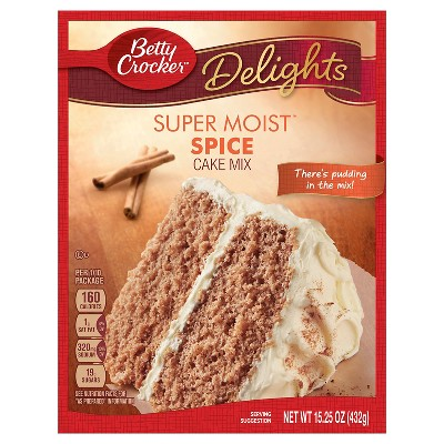 Baking Mixes: Betty Crocker Super Moist Delights Spice Cake Mix
