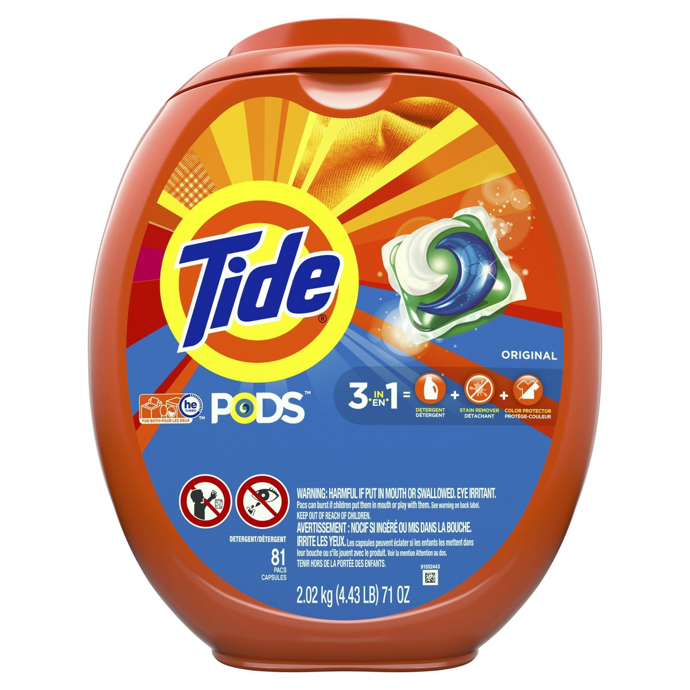 Tide PODS Laundry Detergent Pacs Original - 81ct - image 1 of 2