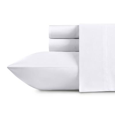 500 Thread Count Cotton Solid Sheets - Sateen Weave Sheet Set, Deep Pocket Silky Soft Light Sheen Set - California Design Den