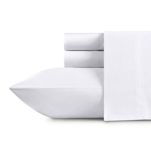 500 Thread Count Cotton Solid Sheets - Sateen Weave Sheet Set, Deep Pocket Silky Soft Light Sheen Set - California Design Den - image 1 of 4