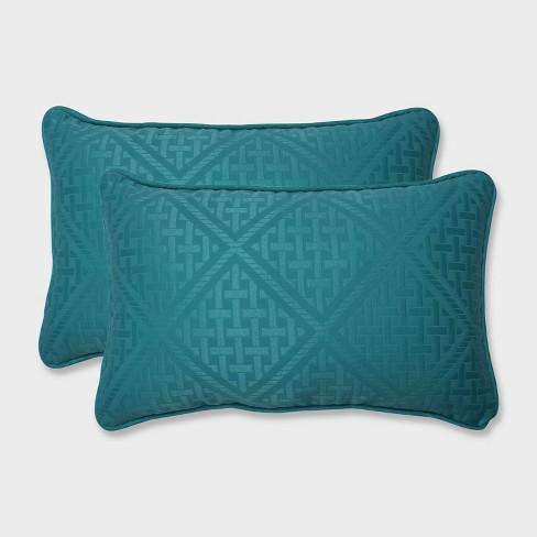 2pk Paragon Maui Rectangular Throw Pillows Green - Pillow Perfect - image 1 of 2