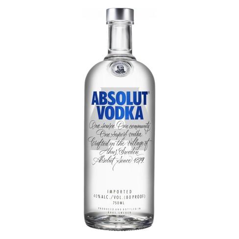 ABSOLUT® Vodka - 750mL Bottle : Target
