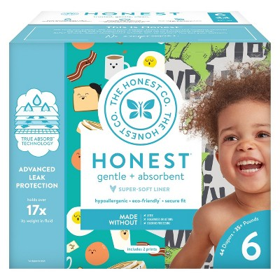 Honest Company Disposable Diapers Club Box T-Rex & Breakfast - Size 6 (44ct)