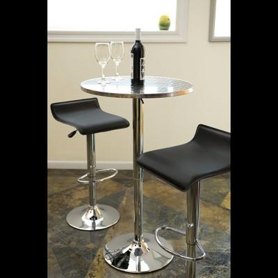 Bistro Adjustable Bar Table Metal/Stainless Steel - LumiSource