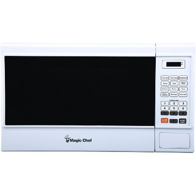 Magic Chef MCM1310W 1000 Watt 1.3 Cubic Foot Microwave with Digital Touch and 11 Power Levels, White