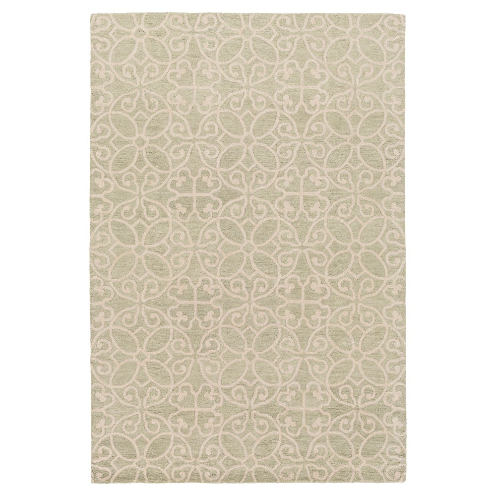 Mint (Green) Solid Hooked Accent Rug - (2'X3') - Surya