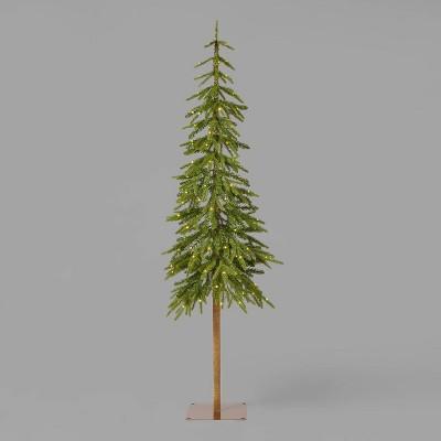 6ft Pre-Lit Downswept Alpine Balsam Artificial Christmas Tree Warm White Dew Drop LED Lights - Wondershop™