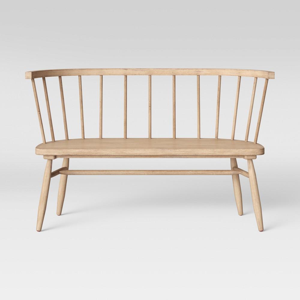 Windsor Bench Light Brown - Threshold
