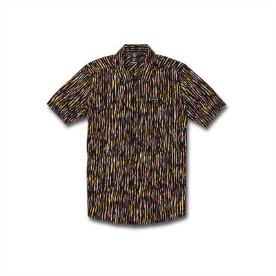 Volcom Boys High Ball Button Up Short Sleeve Shirt