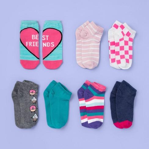 Girls' 7pk No Show Best Friends Print Socks - More Than Magic™ - image 1 of 2