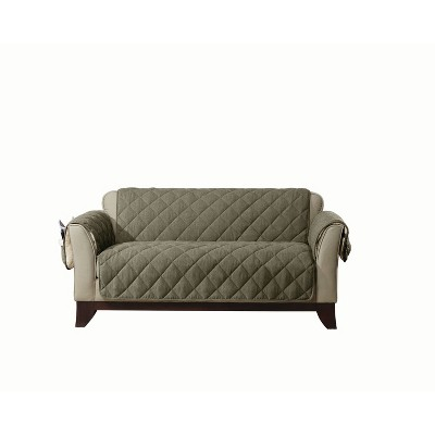 Flannel/Sherpa Loveseat Furniture Cover - Sure Fit