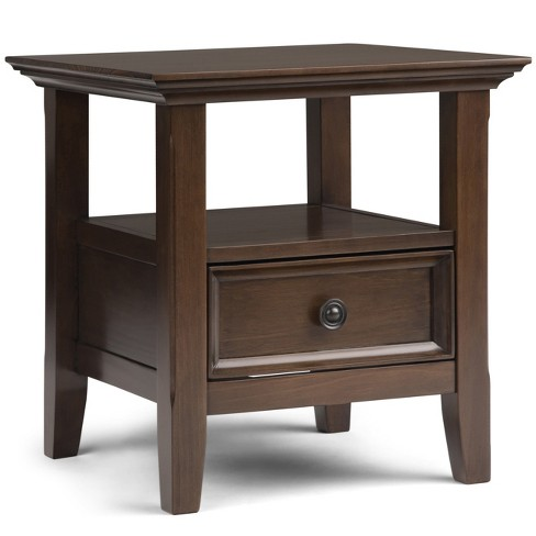 Simpli Home Amherst End Table Natural Aged Brown - image 1 of 7