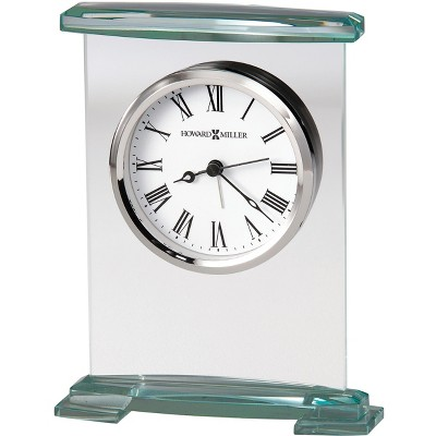 Howard Miller Augustine Table Clock 645-691 - Glass & Beveled with Quartz Movement
