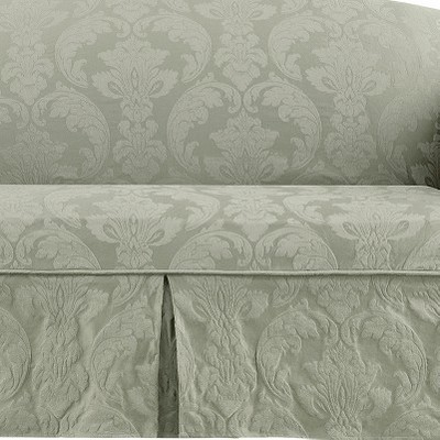 Fabulous Matelasse Damask Loveseat Slipcover Sure Fit Squirreltailoven Fun Painted Chair Ideas Images Squirreltailovenorg