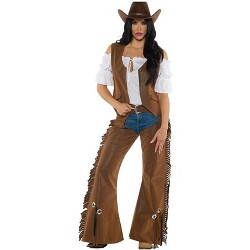 Cowgirl Adult Costume Vest & Chaps