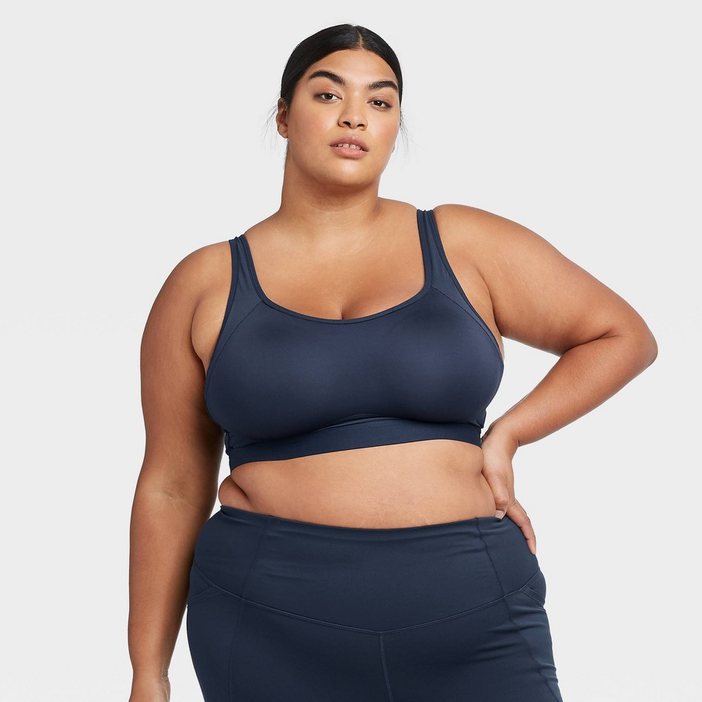 Women 39 S Plus Size High Support Convertible Strap Bra All In Motion 8482 Navy 44d