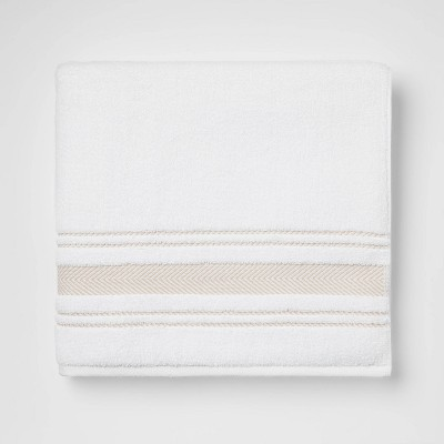 Performance Bath Towel Tan Stripe - Threshold™