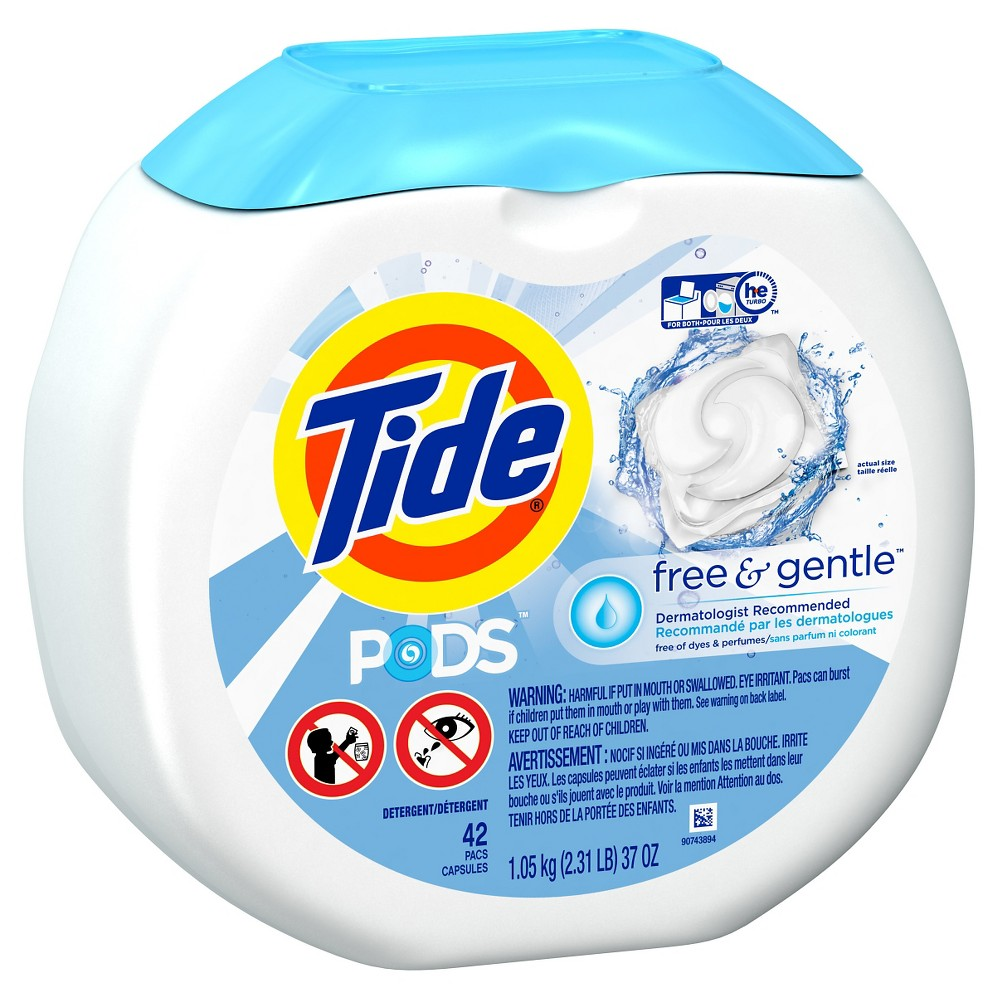 Tide Pods Free & Gentle Liquid Laundry Detergent Pods - 42ct
