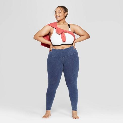 Women's Plus Size Lounge Leggings - Colsie™ Blue - image 1 of 3