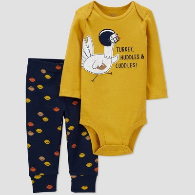 Baby Boys' 2pc Thanksgiving Bodysuit - Just One You® made by carter's Blue Newborn