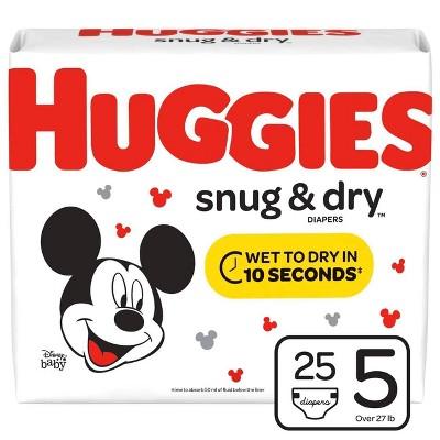 Huggies Snug & Dry Diapers - Size 5 (25ct)