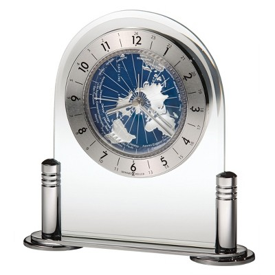 Howard Miller Discoverer Table Clock 645-346 - Silver Toned with Quartz Movement