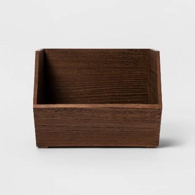Paulownia Wood Potato Bin Dark Brown - Threshold™