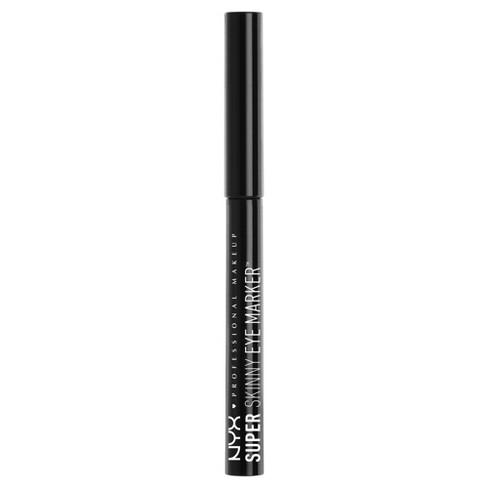 NYX Professional Makeup Super Skinny Eye Marker Carbon Black - 0.03oz - image 1 of 3