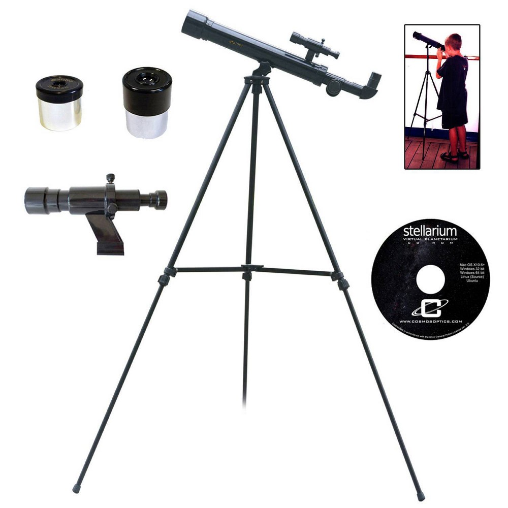 Image of Galileo 500mm x 45mm Children's Astronomical and Terrestrial/Land Telescope Kit - Black