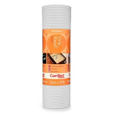 Con-Tact Brand Grip Premium Non-Adhesive Shelf Liner- Excel Grip White (12''x 10')