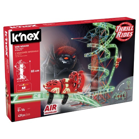 K'nex® Thrill Rides Web Weaver Roller Coaster Building Set - 439pc - image 1 of 5