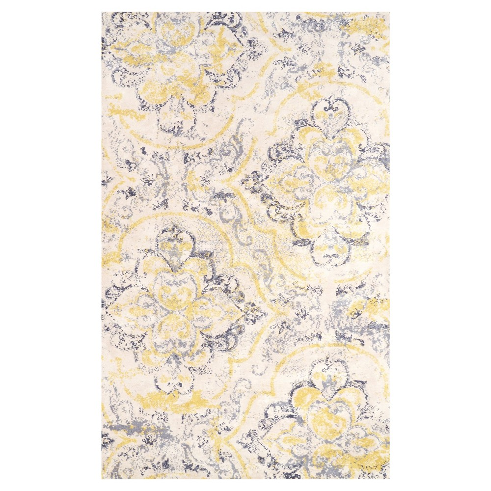 Off White Solid Loomed Area Rug - (4'x6') - nuLOOM, Off-White Blue