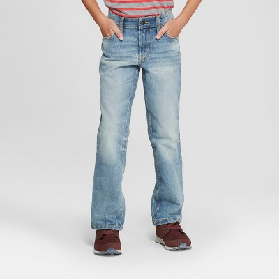 Boys' Stretch Straight Fit Jeans - Cat & Jack™ Light Blue